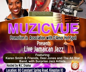 Muzicvue Presents Live Jamaican Jazz