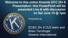Kiwanis Division 9 CLE, Membership Workshop June 15th@1pm