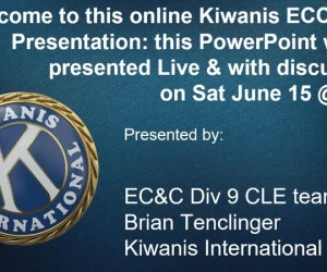Kiwanis Division 9 CLE, Membership Workshop June 15th@1pm